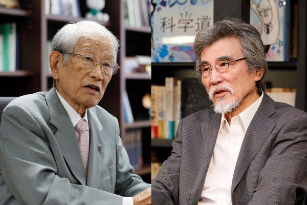 松本紘理事長と松岡正剛所長