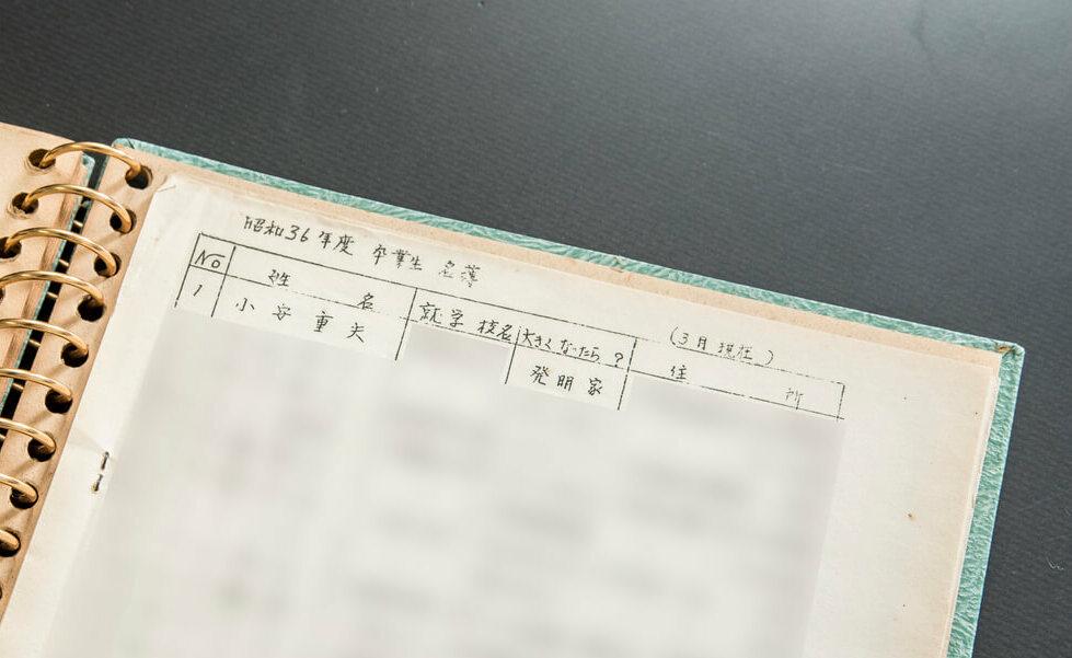 小安重夫理事・博士の卒園アルバムの画像
